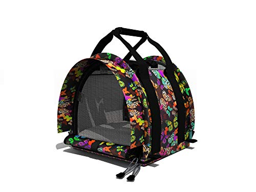 STURDI PRODUCTS SturdiBag Large Cube Pet Carrier (12 x 12 x 12 inches) – Butterflies