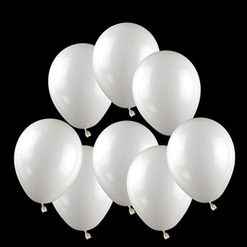 Latex Helium Balloon (100 ct Pearlized White Balloon 10