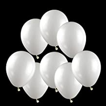 "GuassLee 100 ct White Balloon 10"" Latex Helium Balloons for Wedding Birthday Party Festival Christmas Decorations"