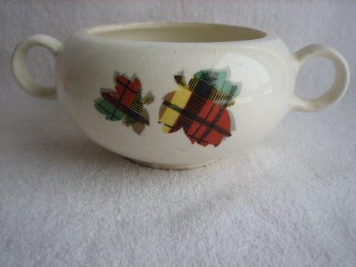 Harmony House Tartan Sugar Bowl by Salem China 1952