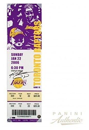 Kobe Bryant Signed Autograph Oversized Canvas Ticket From Bryant'S 81 Point Game Panini Le 24 Certified Authentic