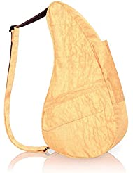 AmeriBag Small Distressed Nylon Healthy Back Bag (Apricot)