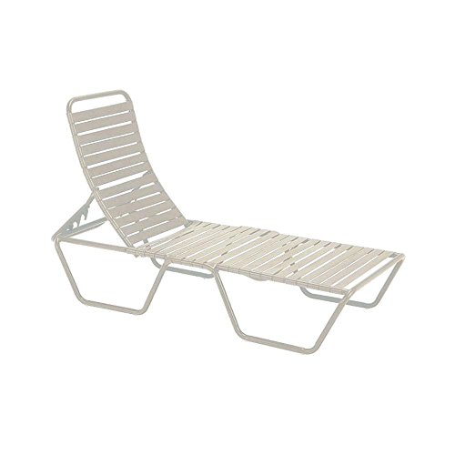 Tradewinds Milan Antique Bisque Commercial Patio Chaise Lounge