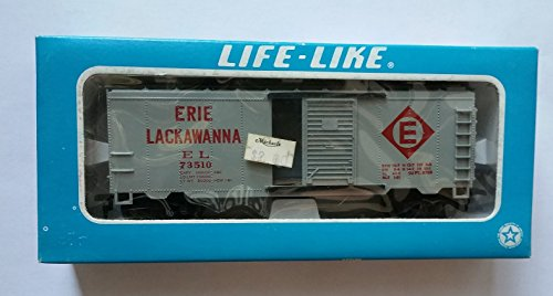 Life - Like HO Scale Erie Lackawanna Boxcar - Lackawanna Boxcar