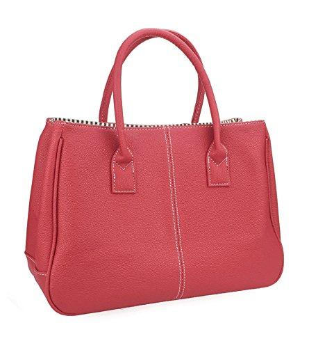 Faux Leather Tote Handbag - 7