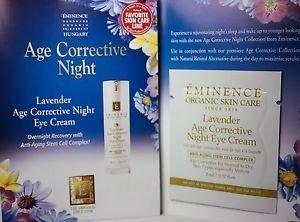 Lavender Age Corrective Night Eye Cream Card Sample Set of 6 Travel Size