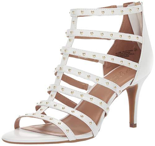 let Park Heeled Sandal White Leather 8 M US ()