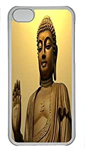 linJUN FENGCustom design PC Transparent Case Cover For ipod touch 5 DIY Durable Shell Skin For ipod touch 5 with Buddha 4