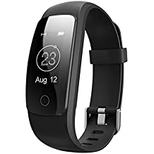 """SFTRANS Smart Bracelet, Bluetooth 4.0 Heart Rate Monitor with 0.96"""" Panel, Pedometer, GPS & Auto Sleep Tracking, Best Fitness Tracker for Iphone 7/6S/SE, Ipad, Samsung Galaxy S8/S7/Edge"""