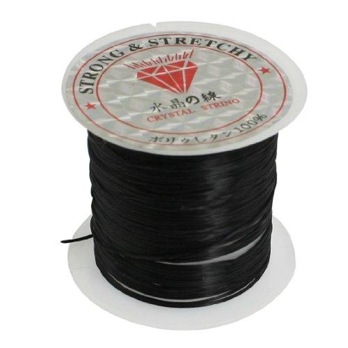 (uxcell Jewelry Pendant Beading Thread Elastic Crystal String Cord Spool 9M Black )