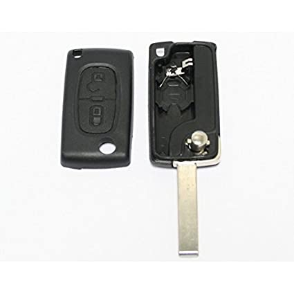 Llavero mando Plip de 2 botones para Peugeot 207, 307, 308 ...