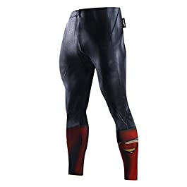 Fringoo® Mens Compression Superhero Tights Pro Base Layer Leggings Gym Long Running Thermal Workout Spider Superman Bat