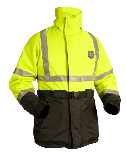 - Mustang Survival Classic High Visibility Flotation Coat, Fluorescent Yellow, Large