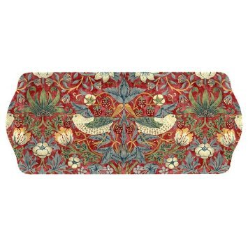 PIMPERNEL Strawberry Thief Red Melamine sandwich tray 15.25