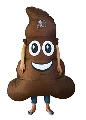 Inflatable Shit Emoji Costume Poop Costumes Halloween Party for Mens & Womens Adult Size -