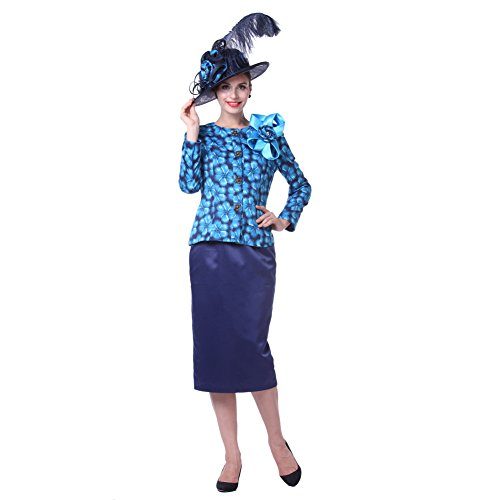 Kueeni Women Church Suits Outwear Outwear Mother of the Bride Hat Navy price tips cheap