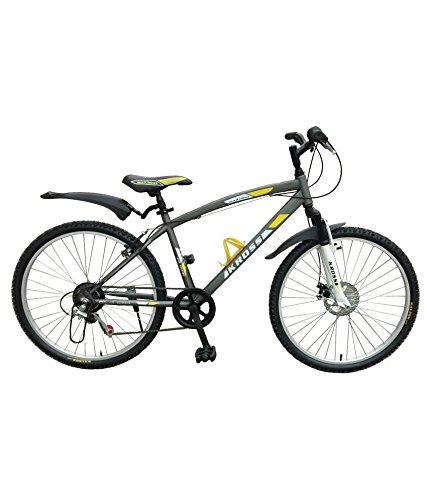 1844a9eff9372 Buy Kross Maximus 26T Single Speed With Front Disc Grey Online at Low Prices  in India - Amazon.in