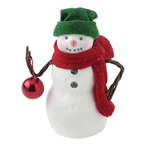 Hallmark Home Holiday Snowman Figurine with Ornament, Small Cartoon Christmas Carolers