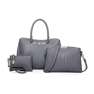 Las mujeres de moda clásica bolsa Crossbody, negro Gray