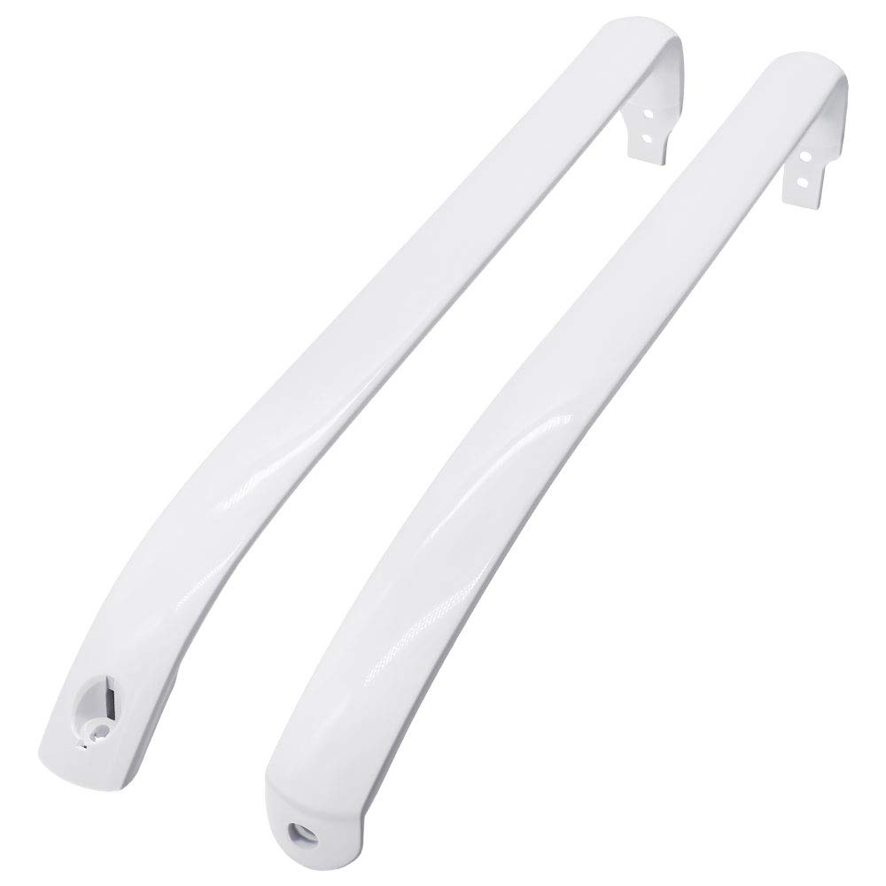 Appliancemate WR12X22148 Freezer Door Handle fit for General Electric Refrigerator (2pieces)