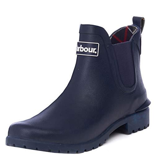 Barbour Womens Wilton Rain Festival Snow Winter Wellington Rubber Boots - Navy - 7 ()