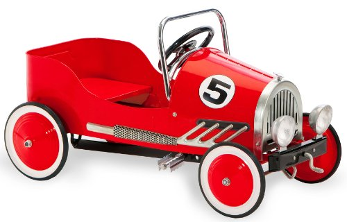 Morgan Cycle Retro Style Pedal Car, Red (Red Pedal Car)