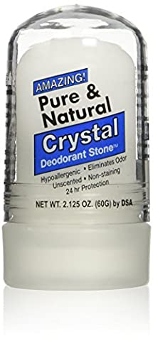 Thai Deodorant Stone Pure and Natural Crystal Mini Stick, 2.125 Ounce - Thai Natural
