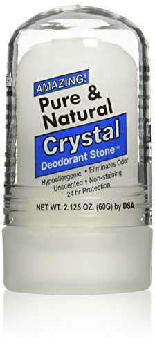 Thai Deodorant Stone Pure and Natural Crystal Mini Stick, 2.125 Ounce