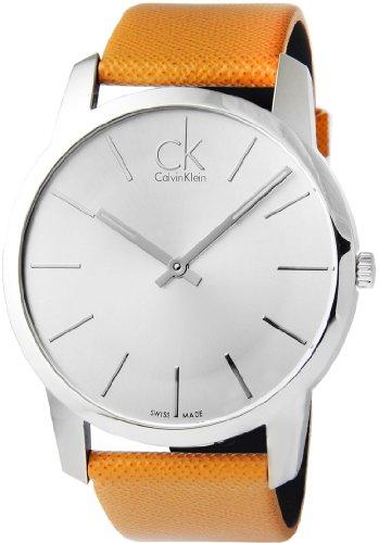 Calvin Klein Watch Men's Swiss City Brown leather strap 43MM K2G21138