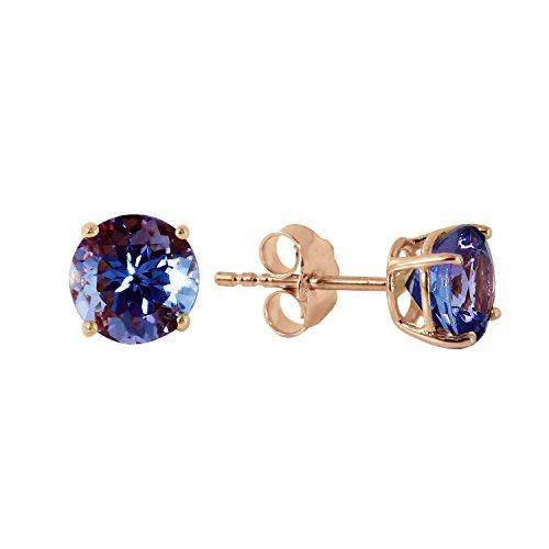 0.95 Carat 14k Solid Yellow Gold Tanzanite Stud Earrings