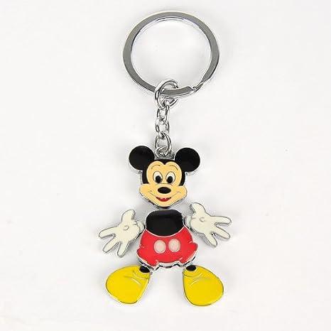 Amazon.com: Mickey Mouse Acero Llavero Llavero Anillo Keyfob ...