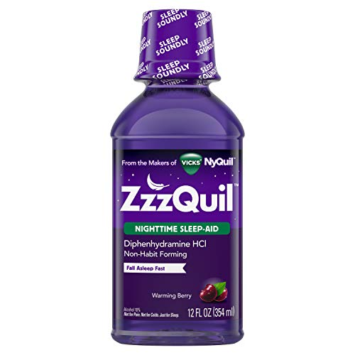 (Vicks ZzzQuil Nighttime Sleep Aid Liquid by Vicks, Warming Berry Flavor, 12 Fl Oz)