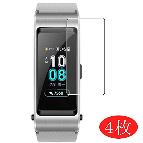 【4 Pack】 Synvy Screen Protector for Huawei TalkBand B5 0.14mm TPU Flexible HD Clear Case-Friendly Film Protective Protectors [Not Tempered Glass]