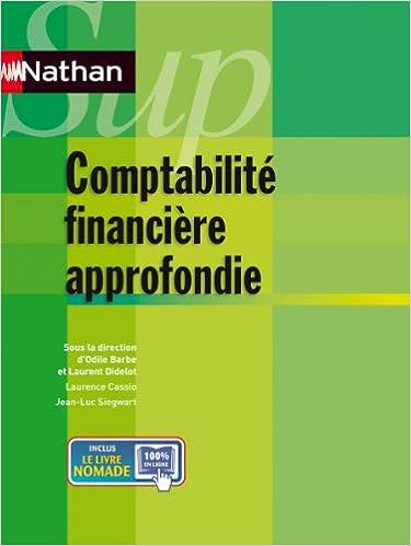 Comptabilité financière approfondie pdf