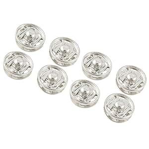 Patrones de costura para ropa 11,5 mm postes de botones cierre de botón tono plateado 20 piezas