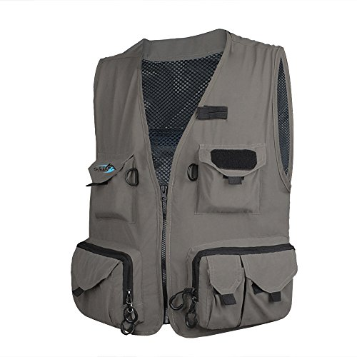- Dr.Fish Fly Fishing Vest Outdoor Sport Waistcoat Photography Jacket Big Multi Pockets Quick Dry Ultra-Light Breathable
