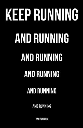 Damdekoli Keep Running Poster Runners, 11 x 17 inches, Cross Country Print, Track Field Art, Run by Damdekoli