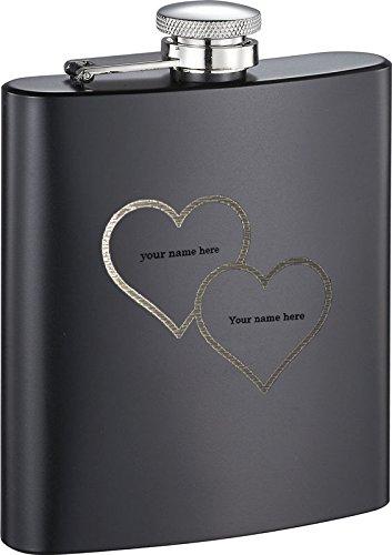 本物の Personalized Visol Personalized Jamboブラックマットゴム引き8オンスフラスコwith Free – Engraving Engraving – Two Hearts B01MS71ZJZ, シオヤマチ:d7f9a2e7 --- a0267596.xsph.ru