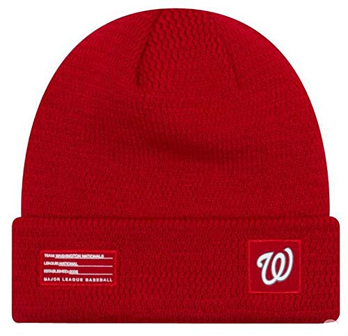 New Era Washington Nationals Beanie MLB On Field Sport Knit Cap Red Adult One Size