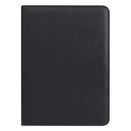 Classic Slim Franklin Leather Open Wire-bound Cover - Black