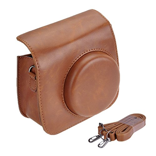 Fujifilm Instax Mini 8 Mini 8+ Mini 9 Case, Yoption Classic Vintage Pu Leather Camera Case Bag with Strap for Fujifilm Instax Mini 8/8+ Mini 9 Instant Film ()