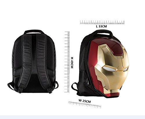 Marvel 3D Hardshell Backpack (Iron Man (LED Light)) by Mtime (Image #7)