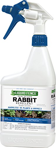 Liquid Fence HG-70212 Dual Action Rabbit Repellent Spray, 32 oz](Liquid Fence Cat Repellent)