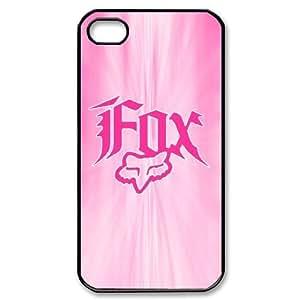 Black & Pink Fox Racing iPhone 4/4S Case