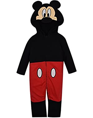 Mickey Mouse Costume Coverall with Hood Baby Boy