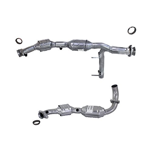 Catalytic Converter compatible with 2003 Ford Expedition Engine VIN: L 2 Sensor Ports Set of 2 Catalytic Converter Ford Expedition