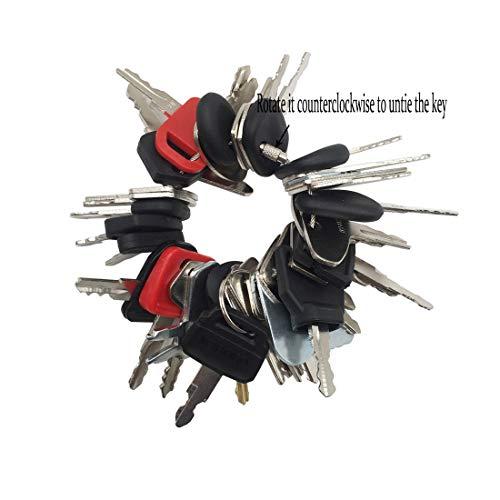 (36 Keys Set Construction Ignition Key Heavy Equipment Keys for John Deere Bobcat New Holland Komatsu)