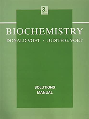 biochemistry solutions manual donald voet judith g voet rh amazon com Fundamentals of Biochemistry 3rd Edition Fundamentals of Biochemistry 3rd Edition