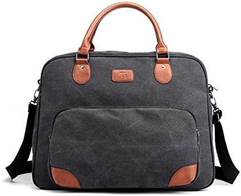 男性キャンバスバッグ旅行バッグショルダーメッセンジャーバッグ大容量クロスボディ男性カジュアルハンドバッグ多機能 (Color : Black)