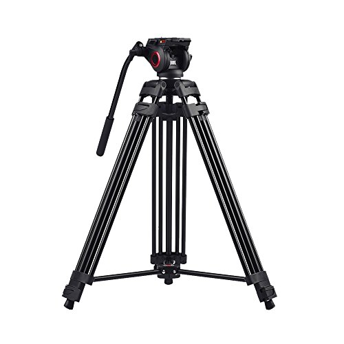miliboo MTT601A Heavy Duty Aluminum Video Tripod with Middle Spreader Design Camera Tripod Stand by miliboo